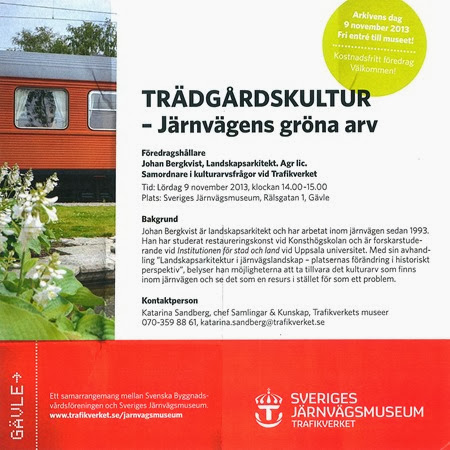 Trädgårdskultur, järnvägsmuseet