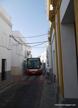 local bus just squeezes into the narrow streets
