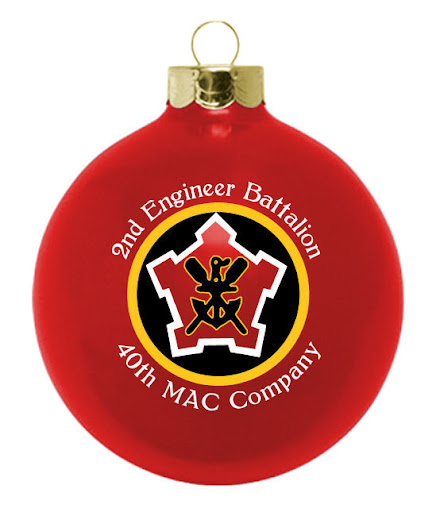 2nd Engineer Battalion - 40th MAC Company ornament with logo -    at http://www.fundraisingornaments.com