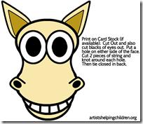mascaras caballo jugarycolorear (1)