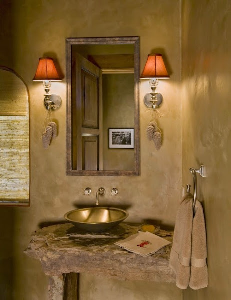 Rustic bathroom ideas casual cottage Rustic bathroom decor ideas