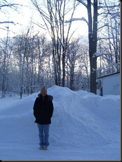 me, snowbanks