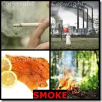 SMOKE- 4 Pics 1 Word Answers 3 Letters