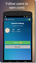يمكنك الحصول على كوينز التطبيق عن طريق متابعة أشخاص أخرين على موقع إنستجرام