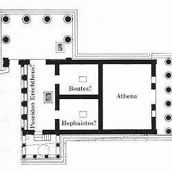30- Planta del Erecteion de Atenas