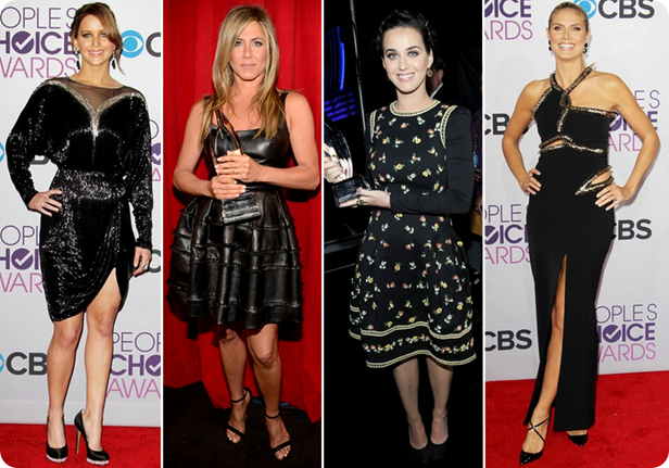 lindos, premio, trofeu, pca 2013, peoples choice awards, red carpet, jennifer lawrence, jennifer aniston, heidi klum, katy perry