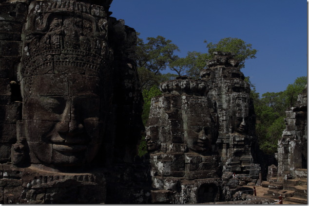 Different faces of Bayon Temple, Cambodia