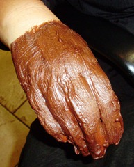 Choc Hand mask