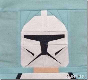 Paper pieced LEGO Clone trooper