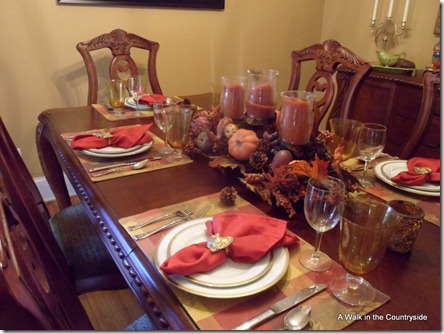 A Walk in the Countryside: Thanksgiving Table