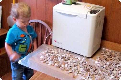 Nolan Helps in the Kitchen