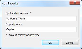 Add favorite в Delphi Object Inspector