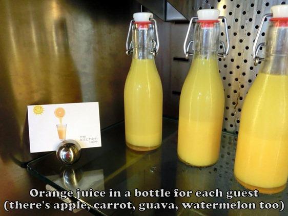 W Hotel Singapore Breakfast Juice
