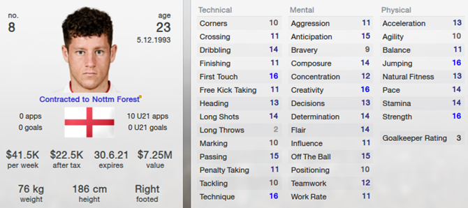 Ross Barkley in Football Manager 2013