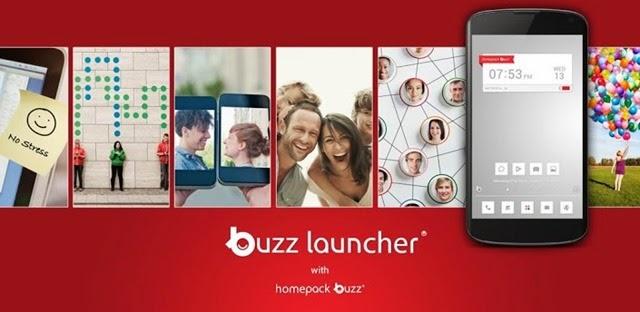 تطبيق لانشر Buzz Launcher لتغير شكل هاتفك الأندرويد