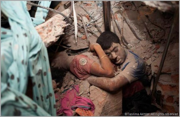 A couple found dead in the rubble shares a final embrace. CLICK for the full story of this image.