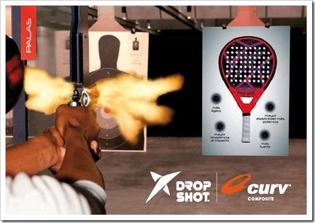Tecnología CURV de la firma Drop Shot para su colección de palas 2015