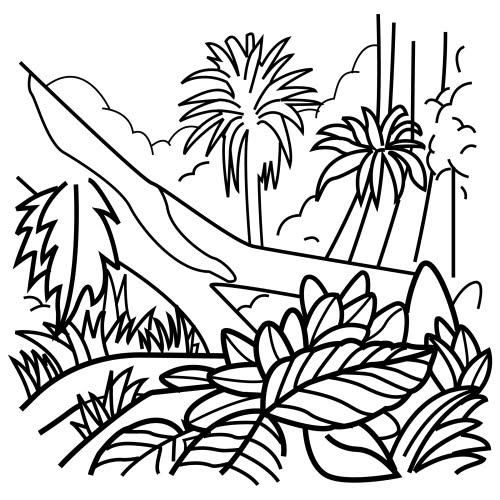 Vistoso Capas De La Selva Para Colorear Composición - Páginas Para ...