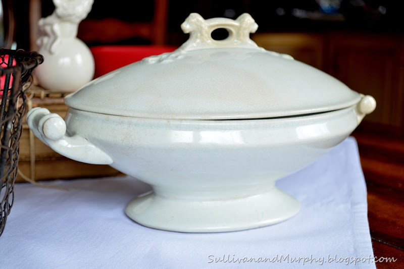 crazed tureen