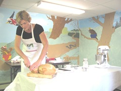 Cape Cod Columbus weekend 2012..Sat. Gluten Free bread making demo2