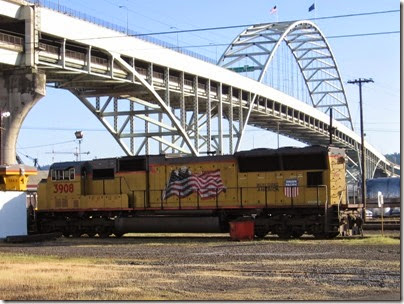 IMG_6474 Union Pacific SD90M #3908 at Albina Yard in Portland on May 22, 2007