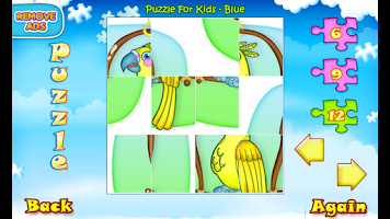 Screenshot of 123 Kids Fun PUZZLE BLUE Free