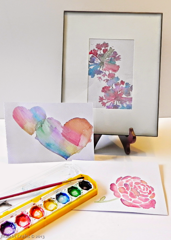 Watercoloring with Stencils