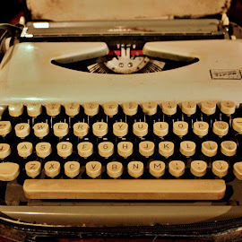 Letters have no age! by Anoop Namboothiri - Artistic Objects Antiques ( old, keyboard, typewriter, white, anoop namboothiri, antique, letters )