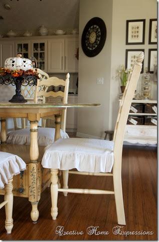 Dropcloth Chair Slips