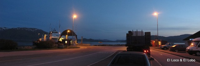waiting for E39 ferry at midnight