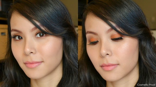 shu uemura Brave Beauty Orange Palette Makeup Look (2)