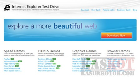 Download Internet Explorer 10 Test Drive
