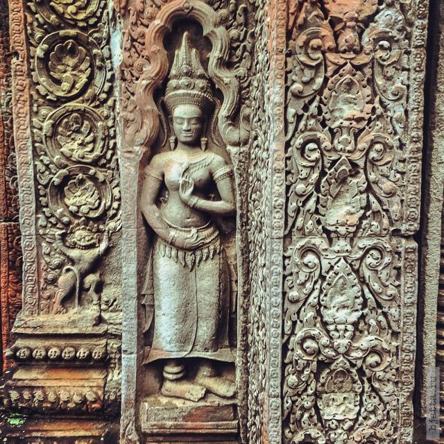 11. Ангкор Том, Angkor Tom. Апсары, как же без них.