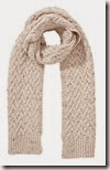 wool mix cable knit scarf