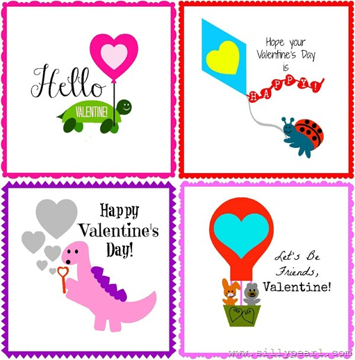Love is in the air - Free Printable Valentines by The Silly Pearl