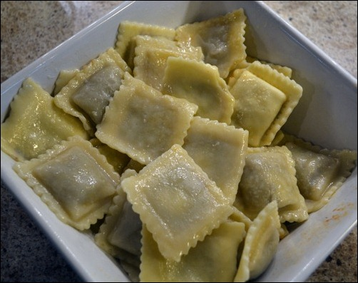 cooked ravioli