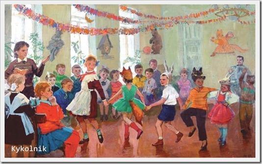 Фомин Михаил Петрович (Россия, 1925) «Новогодний праздник»1960