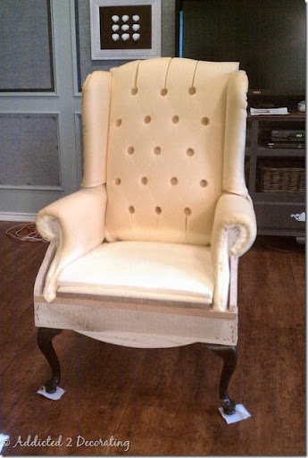 Wingback Chair Stripped