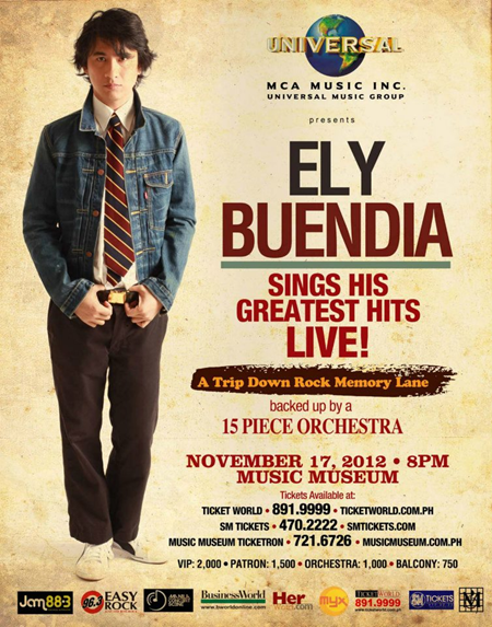Ely Buendia Greatest Hits Live in Concert