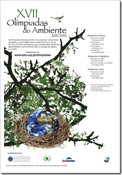 Cartaz Olimpíadas do Ambiente