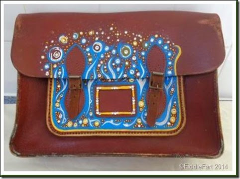 Handpainted satchel 1