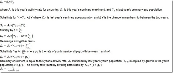 Activity formula