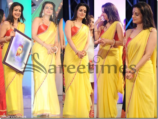 Amisha_Patel_Yellow_Georgette_Saree
