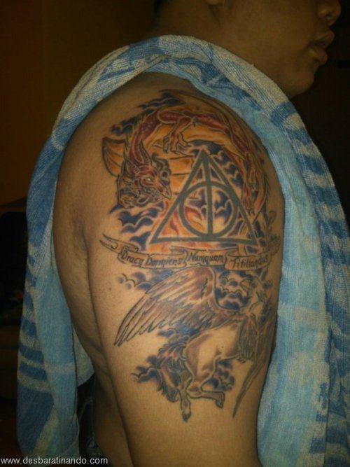 tatuagens harry potter tattoo reliqueas da morte bruxos fan desbaratinando (45)