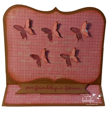 Easel Card - Butterflies flying - Lulupu The Craft Lounge - Ruthie DT - Silhouette Cameo 3