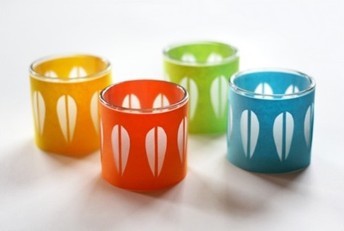 cheap craft diy enamelware inspired paper wrapped votive candles