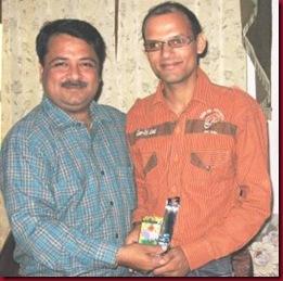 निर्णायक श्री श्रीश शर्मा जी को भी सम्मानित किया गया