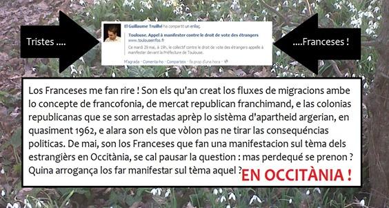 manifestar contra lo vòt dels estrangièrs en Occitània