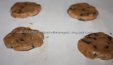 microwave package cookies -  flattened