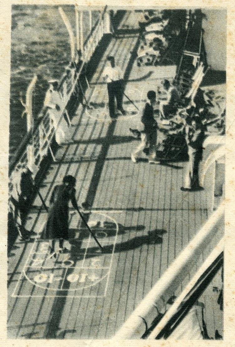 La herencia americana. Juegos disponibles a bordo. Triptico de propaganda de la Compañia.jpg
